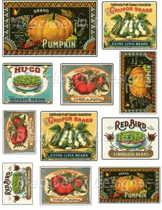 Free Printable Decoupage Papers | decoupage paper,collage sheet,vintage fruit and food,vegetable labels ...