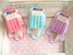 Japanese Popsicle Erasers.