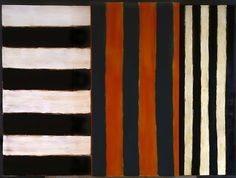"peinture abstraite UK (irlandaise) : Sean Scully, ""Maesta"", rayures"