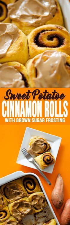Sweet Potato Cinnamon Rolls is so easy to make! They taste amazing and the whole family loves them! #cinnamonrolls #breakfast #brunchfood #sweetpotato #sweetpotatocinnamonrolls