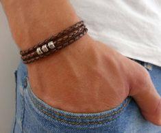 Herren Armband  Männer Perlen Armband  Herren von Galismens auf Etsy