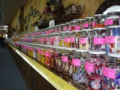 Not scenic, but oh so sweet: #Chutters Candy Shop, Littleton, NH, has the longest candy counter in the world at almost 112 ft. long! http://www.visitingnewengland.com/candy-shop.html