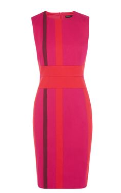 Colourful stripe panelled dress