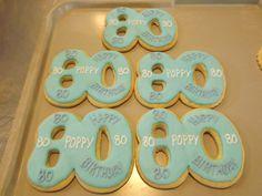 80th Birthday Cookies........ Log House Cookies