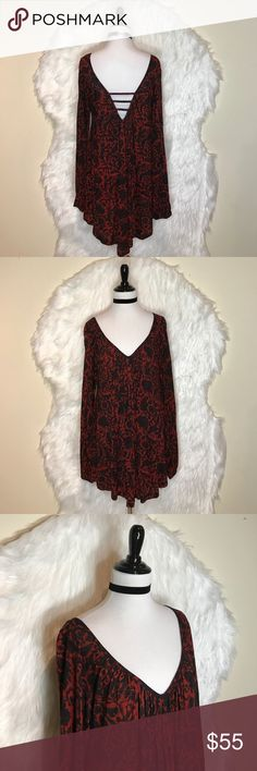 """Free People Midnight Dress Cool and carefree, this peasant dress from Free People is crafted in a relaxed, swingy, and  finished with a cute back design. Length: 31"""". NWOT Free People Dresses Mini"""