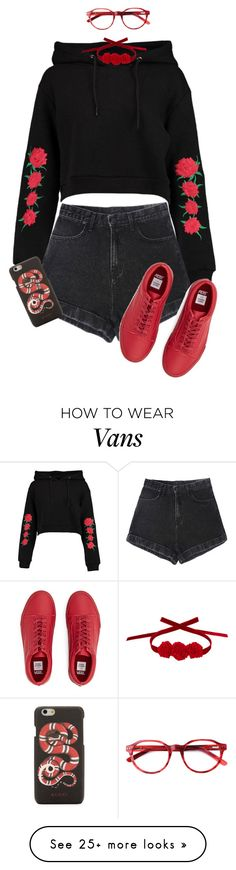 """🌹"" by kamikazeboy on Polyvore featuring Boohoo, Gucci and Vjera Vilicnik"