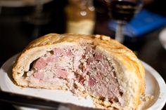 English Pork Pie You want lard AND butter, you want ground forcemeat AND diced Berkshire ham, you want PORK PIE! Food Tips, Food Hacks, Irish Recipes, Pot Pie, Tarts, Casseroles, Ontario, Ham, Veggies
