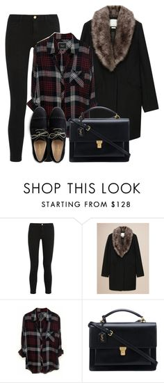 """""""oxford"""" by needlework ❤ liked on Polyvore featuring Frame, Rails, Yves Saint Laurent and Cole Haan"""