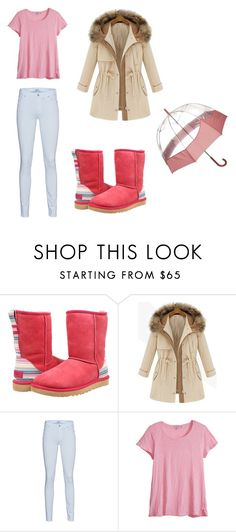 """Sem título #38"" by talita-cremasco on Polyvore featuring beleza, UGG Australia, 7 For All Mankind, Calypso St. Barth e Hunter"