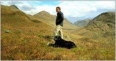 Ardgour Hills, Argyll. May 2012 ~ Tom MacDonald (me) with faithful dog Nellie.