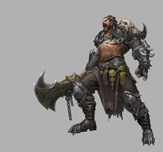 ArtStation - Personal rework, Younghun Byun Fantasy Concept Art, Fantasy Character Design, Character Art, Barbarian, Fantasy Characters, Batman, Superhero, Artwork, Instagram
