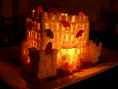 Sugar cube haunted castle