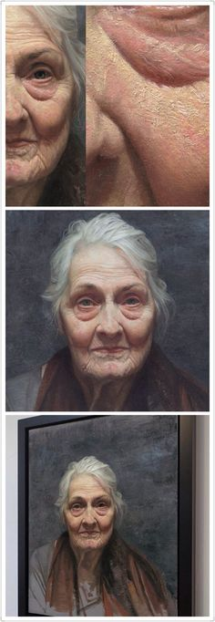 Portrait of the old lady by David Kassan oil - portrait d'une vielle femme huile - портрет старой женщины масло Eye Painting, Painting People, Drawing People, Figurative Kunst, Arte Sketchbook, Oil Portrait, Portrait Ideas, Realistic Paintings, Oil Paintings