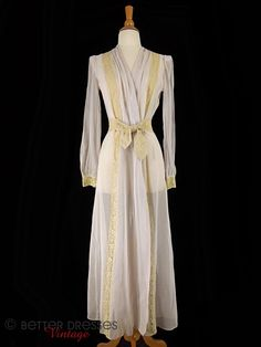 Vintage 1930s Peignoir Robe by Hobert Lavender and Lace - sm, med by Better Dresses Vintage