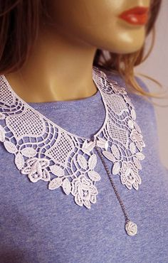 White Lace Collar, Peter Pan Collar Necklace, Fashion Collar, Lace Collar Necklace, women, lace jewelry, gift ideas