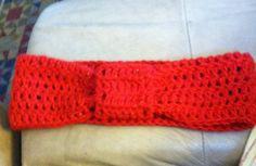 My first crochet ear warmer. I plan on wearing it on Christmas. Free pattern on Ravelry.
