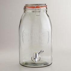 Clear jar drink dispenser: Savannah embossed // World Market // $19.99