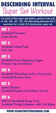 How to Get the Stink Out of Your Workout Clothes Descending Interval Super Set . - Real Time - Diet, Exercise, Fitness, Finance You for Healthy articles ideas Super Set Workouts, Fun Workouts, At Home Workouts, Group Workouts, Circuit Training Workouts, Workout Routines, Hitt Workout, Dumbbell Workout, Workout Plans