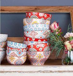 Chehoma Ceramic Bohemian Bowls - shopnectar.com - $34/4 assorted