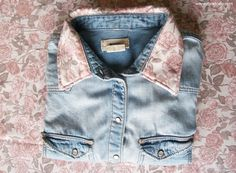Dare to DIY in English: Customize your denim shirt: change the collar!