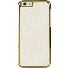 PIPETTO Iphone 6 exotic snap white ($46) ❤ liked on Polyvore featuring accessories, tech accessories and white