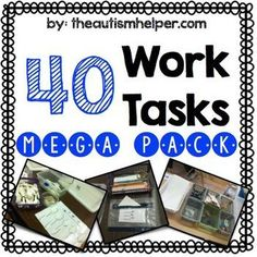 Work tasks are a key component in any classroom! These can be utilized as teaching tools and as independent work tasks. by theautismhelper.com
