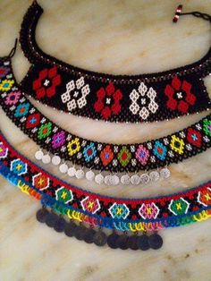 This Pin was discovered by ayş Earring Tutorial, Handmade Beads, Handmade Bracelets, Handmade Jewelry, Tribal Necklace, Beaded Necklace, Beaded Bracelets, Seed Bead Jewelry, Necklaces