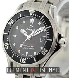 #Omega #Seamaster Ladies 300M 28mm iN Stainless Steel With A Black Dial (212.30.28.61.01.001)