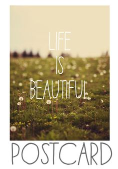 Life is Beautiful - Postcards