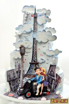 Paris Wedding Cake - Cake by Nasa Mala Zavrzlama - For all your cake decorating supplies, please visit craftcompany.co.uk