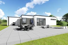 Form 202 BR10 - 5 - typehus - funkis - lavenergi - arkitekttegnet - m2plus - m2concept Concrete Pavers, Garage Doors, Sweet Home, Home And Garden, Architecture, Outdoor Decor, Modern, House, Inspiration