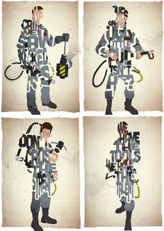 Set of 4 Ghostbuster Prints
