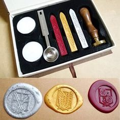 Tanboo Japanese Anime Attack on Titan Wax Seal Stamp Luxury Gift Box Package DIY wax seal stamps,with Tanboo Card and Gift Box Tanboo Jewelry Atack Ao Titan, Vocaloid, Diy Wax, Attack On Titan Anime, Wax Seal Stamp, Anime Nerd, Anime Merchandise, Wax Seals, Pokemon