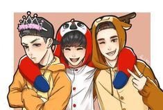 Fanart got7 mark bambam Jackson cr.in picture