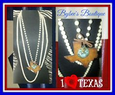 How fun is this metal Texas necklace?! LOvE!