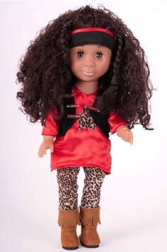 Music Maker - A Classic Kenya Doll  We carry lots of Biracial and Multicultural dolls, but even we were surprised at how beautiful these new Kenya dolls are. From the top of her braided 'natural' hair to the tips of her zip up suede boots, every detail of this doll is designed with the love of a child in mind. When you were little you loved your Kenya dolls; now your children can love a Kenya Doll too!