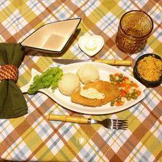 Vamos jantar?! Mudei um pouco o cardapio sem sair muito do previsto! Tem peixe com maionese tartaro, seleta de legumes, cuscuz marroquino, pure de batatas bem puxado no alho e um alfacezinho  bom jantar no seu lar com sua familia!  #ilovevalentina #familia #dodia #amelissima