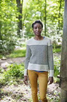 Breton Striped Pullover by Jared Flood, via Brooklyn Tweed Crochet Patron, Knit Crochet, Pullover Sweaters, Cardigans, Knitting Sweaters, Top Mode, Brooklyn Tweed, How To Purl Knit, Nautical Fashion