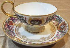 RARE Sevres Cup Saucer de Fontainebleau King Louis Philippe 1846