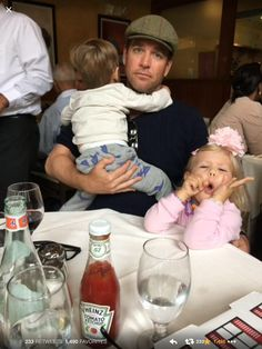 Michael Weatherly and kids Olivia and Liam.
