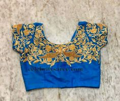 Parrot Work Royal Blue Blouse | Saree Blouse Patterns