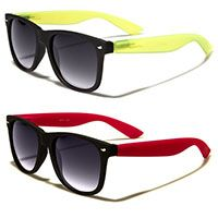b540e7f993 Budget Wayfarer-Style Sunglasses- BLACK FRONT GLOW IN THE DARK ARM (Various  Colors
