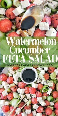 Summer Salad Recipes, Healthy Salad Recipes, Vegetarian Recipes, Summer Salads With Fruit, Hcg Recipes, Fruit Salads, Summer Food, Greek Recipes, Easy Recipes