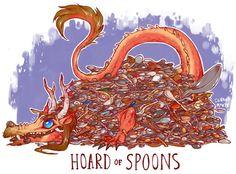 Unusual Dragon Hoards-Spoons-by Lauren Dawson