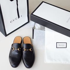 Gucci Princetown slippers in black leather (from yasmin_dxb instagram)