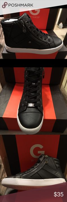 Tennis shoes Black with white plataform G by Guess Shoes Sneakers