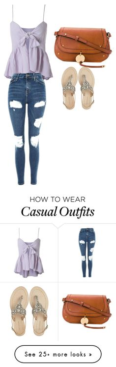 """""""Casual"""" by mixmagicepisode on Polyvore featuring Topshop, Antik Batik and See by Chloé"""