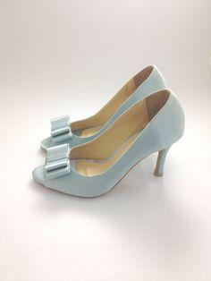 Something Blue Wedding Shoes Powder Blue Wedding by ammiejoyce