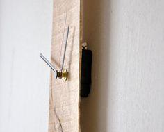 Reloj de pared moderno rescatado reloj de madera por lessandmore