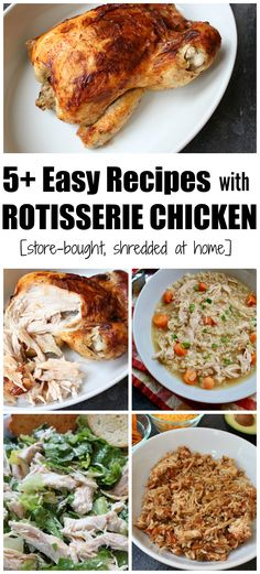 Get an easy dinner on the table in no time by making one of these recipes using a rotisserie chicken! Let the store do the cooking, and all you need to do is shred the chicken when you get home. Creamy Chicken And Noodles, Slow Cooker Creamy Chicken, Chicken Pasta, Easy Chicken Recipes, Healthy Dinner Recipes, Easy Recipes, Healthy Lunches, Skinny Recipes, Healthy Salads